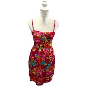 Aeropostale Pink Floral Convertible Sundress S